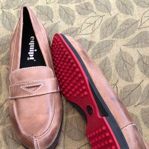 EQUIPE BROWN LEATHER LOAFER, never worn, sz 8.5